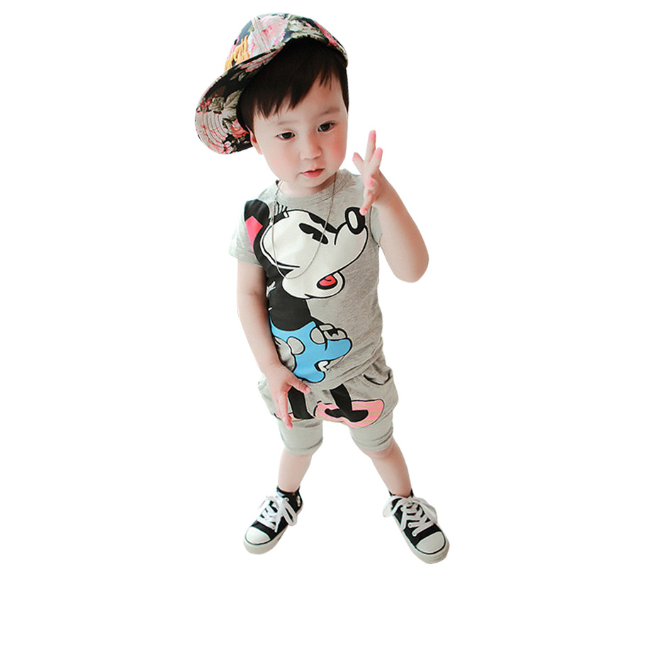 Summer New Children Girl s 2PC Sets Skirt Suit cartoon baby Clothing sets girls clothes