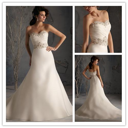 Long Beaded Sweetheart Plus Size Wedding Dresses Mermaid