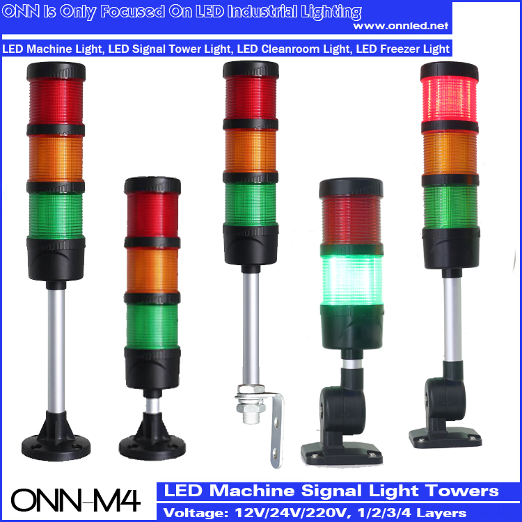 M4 LED Stack Tower Light For CNC Machine Flashing Red