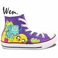 Wen Design Custom Hand Painted Shoes Adventure Time Men Women s High Top Canvas Sneakers Gifts