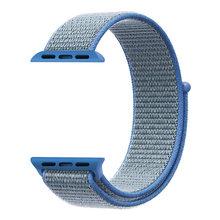 Спортивный плетеный нейлоновый ремешок на липучке для apple watch, ремешок 44 мм 40 мм, наручный ремень из ткани iwatch series 5 4 3 2 1 38 мм 42 мм(Китай)