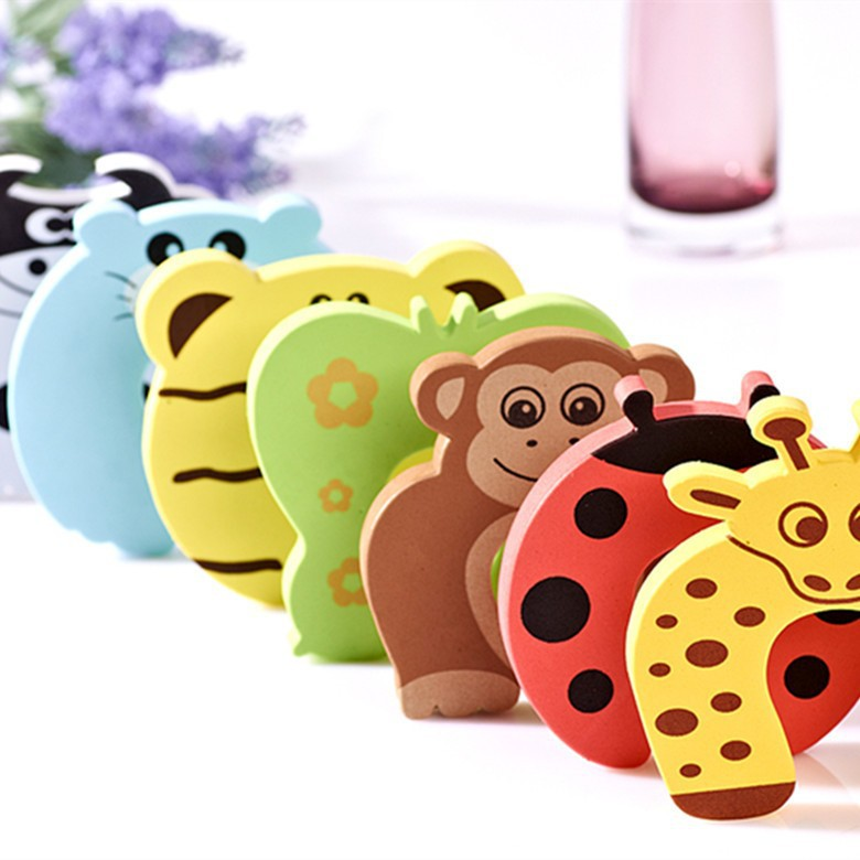 (5 pcs)Child kids Baby Animal Cartoon Jammers Stop Door stopper holder lock Safety Guard Finger Protect 7colors