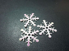 100 pieces/lot snowflake Appliques Wedding/Christmas decoration /craft DIY A042