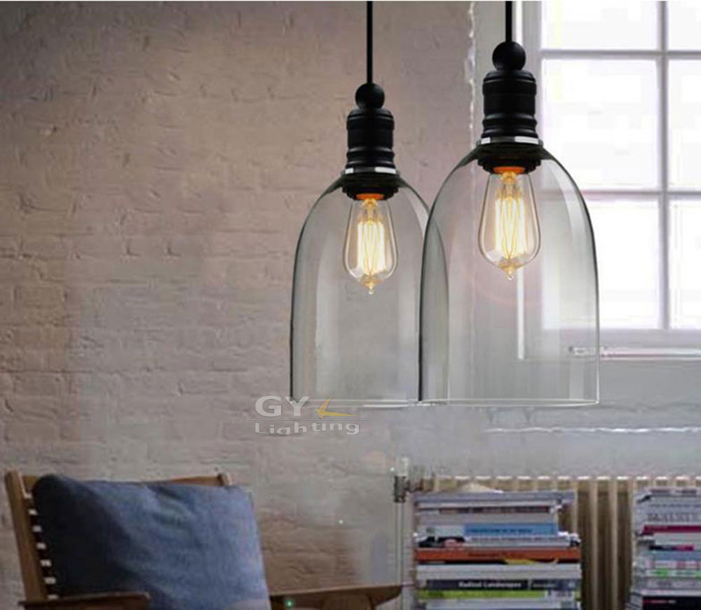 Hanging Dining Room Light Fixtures: Aliexpress.com : Buy AC100 240v 14*34cm Clear Bell Glass