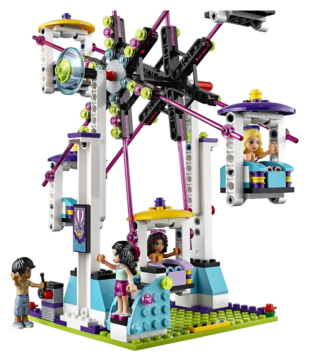 UKLego Friends Amusement Park Roller Coaster Kids Model Toy.
