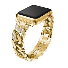 Роскошные рифленая нержавеющая сталь браслет для наручных часов Apple Watch, версии 5 4 3 2 металлический браслет, ремешок для наручных часов iWatch, 40...(Китай)