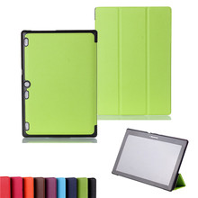 PU Leather Stand Cover Case for Lenovo Tab 2 A10-70 A10-70L A10-70F A10 70 10.1″ Tablet + 2 Pcs Screen Protector Free Shipping