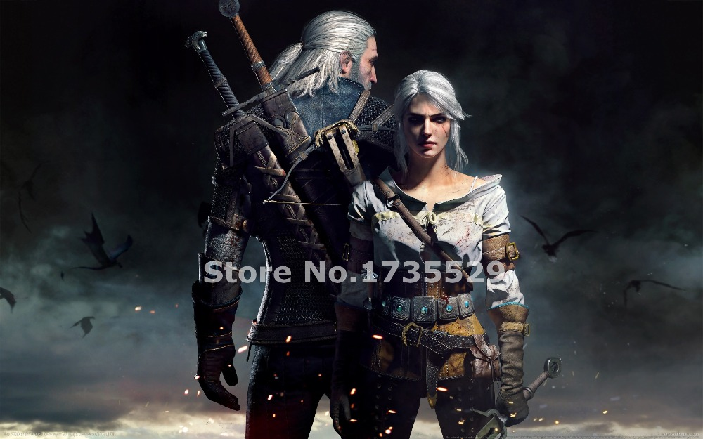 Modern Home Decor The Witcher 3: Wild Hunt Game Poster Print On Canvas Wall Art Paintings For Living Room Wall
