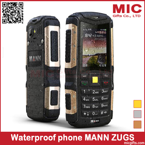 check out 3aa09 356fd Original MANN ZUG S IP67 Waterproof Outdoor Mobile Phone Dustproof  Shockproof Rugged Cell Phones 2.0MP Camera Bluetooth P375