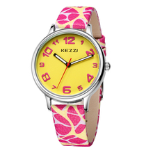 The New KEZZI Leather Strap Womens Watches Casual Fashion Analog Japan Movement Waterproof Quartz Watch Ladies Dress Watch Gift