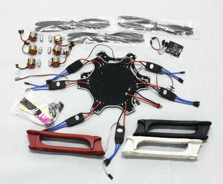 F05114-L F550 Drone Heli FlameWheel Kit With KK 2.3 Flight Controller ESC Motor