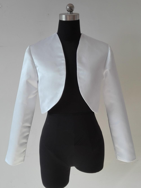 Popular Long Sleeve Black Satin Bolero Jacket-Buy Cheap ...
