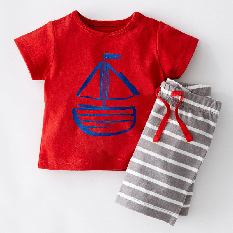 2016 fashion children clothing summer baby short sleeve cotton boy toddler sets clothes for boys kids