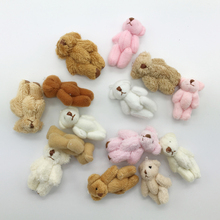 14PCS Lot 4cm 3 Style Mixed Color Super Cute Mini Joint Plush Bear Kid Toys Stuffed