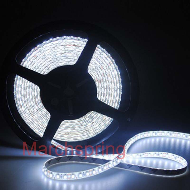 Free mail 3528 600 5M LED Strip SMD Flexible light 120led/m indoor non-waterproof warm / white/red/green/blue