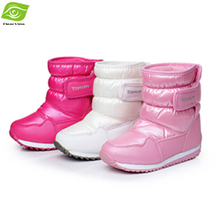 Winter New Fashion Snow Boots Girls Cindy Color Waterproof Winter Boots  Girls Plush Lining Skidproof Warm cc4c37d1e