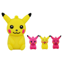 Wholesale cartoon animal cute Pokemon Pikachu shape USB Flash Drive USB 2 0 pen drive flash