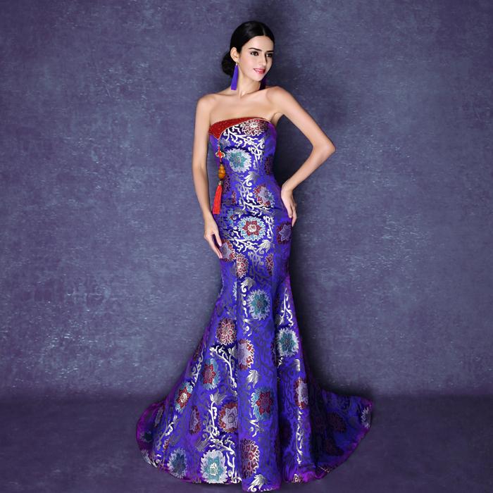 New Mermaid Long Evening Dresses 2015 New Arrival ...