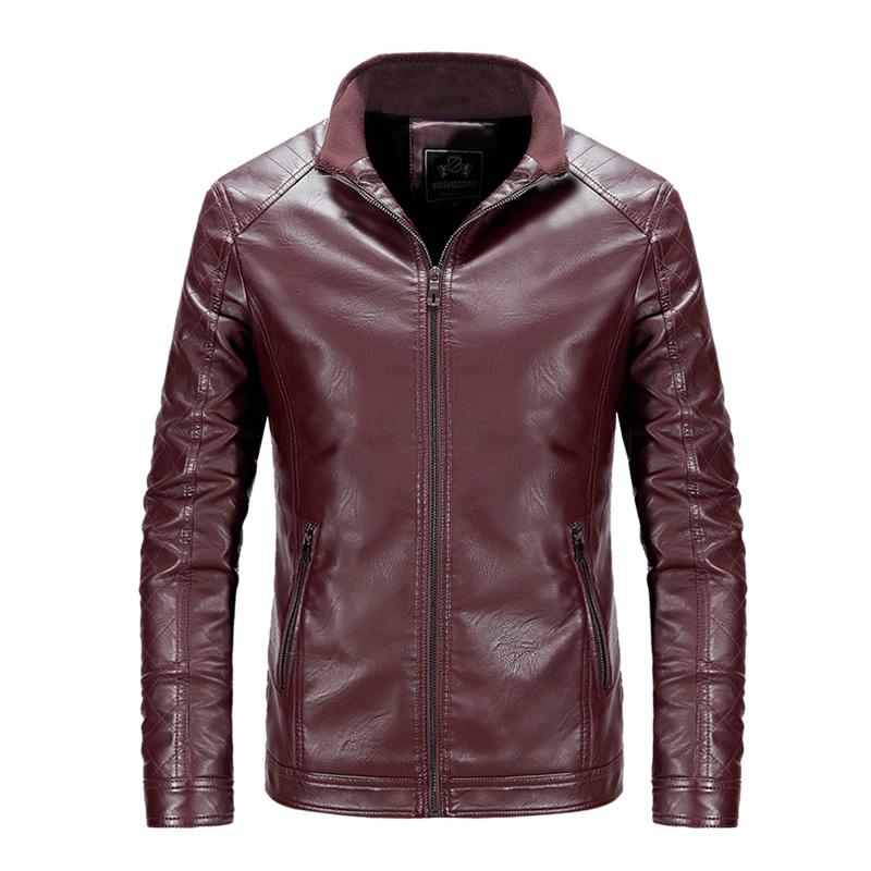 Thick Warm Winter Leather Coat Men Fur Jackets For Men Fur ...