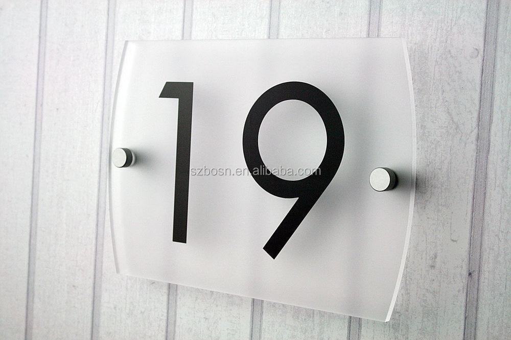 style moderne acrylique maison porte signe num ro plexiglas rue nom plaque support d 39 affichage. Black Bedroom Furniture Sets. Home Design Ideas