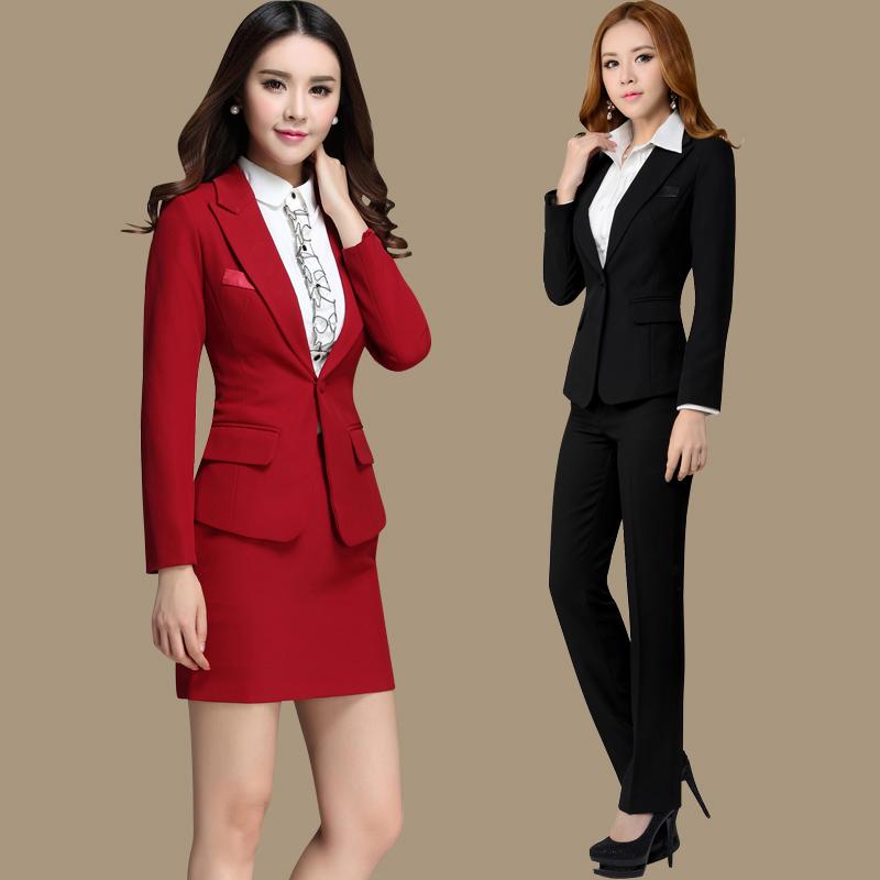 2014 las nuevas mujeres formales juego con falda pantalón