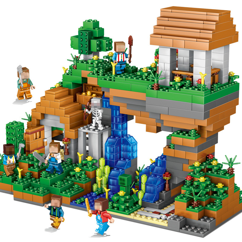 UKLego My world Hidden water falls Minecraft Building Bricks Toy.