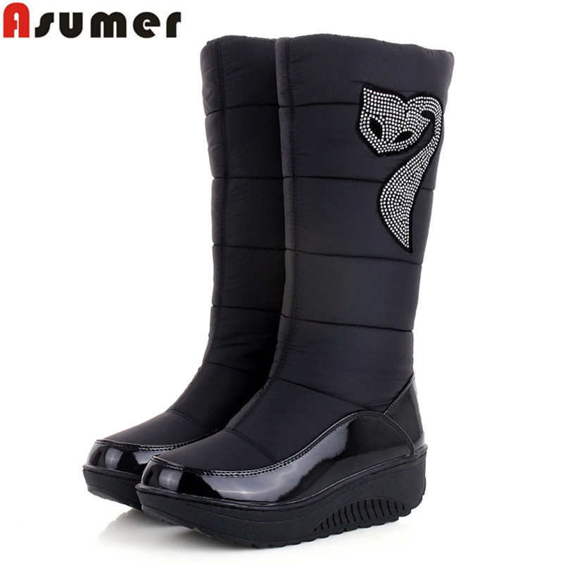 2016 new winter Russia keep warm snow boots Cotton shoes fashion platform down winter boots mid