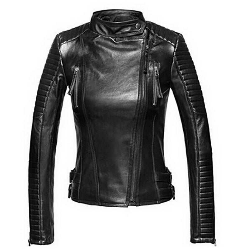 Compra chaqueta de cuero mujer online al por mayor de