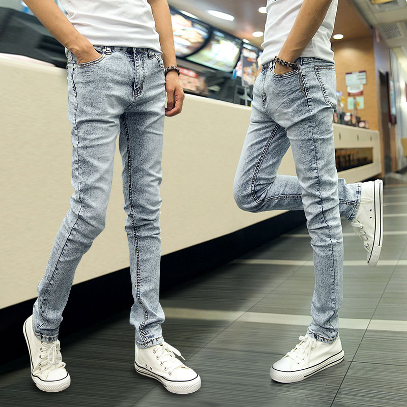45163de32bca 2019 Wholesale Fashion Men S Boys Skinny Jeans Elastic Slim Pencil Pants  Male Casual Pants For Spring And Autumn 2015 From Red2015