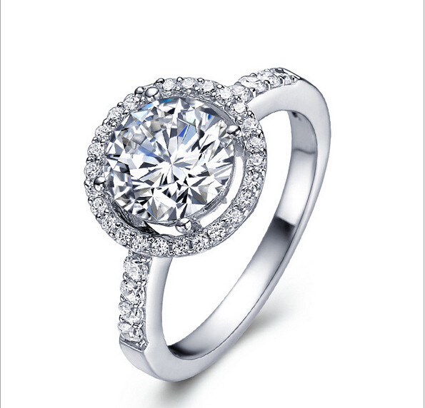 2015 Hot Sale 925 Sterling Silver Rings CZ Diamond For