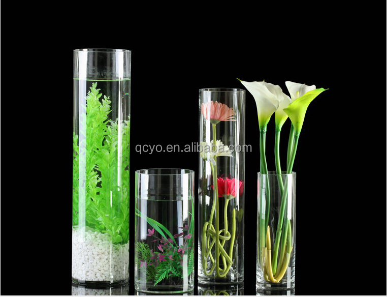 vase en verre transparent acrylique grand vase vases en. Black Bedroom Furniture Sets. Home Design Ideas
