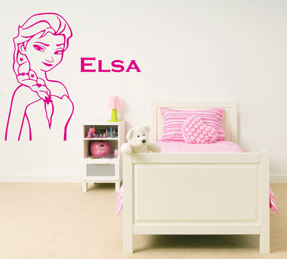 Aliexpress.com : Buy Queen Elsa Picture And Name Wall