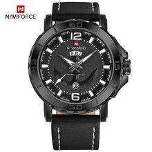 Naviforce Мужская Мода Бизнес Кварцевые наручные часы Творческий Спортивные часы Для мужчин Элитный бренд часы мужской Relogio Masculino(Китай)