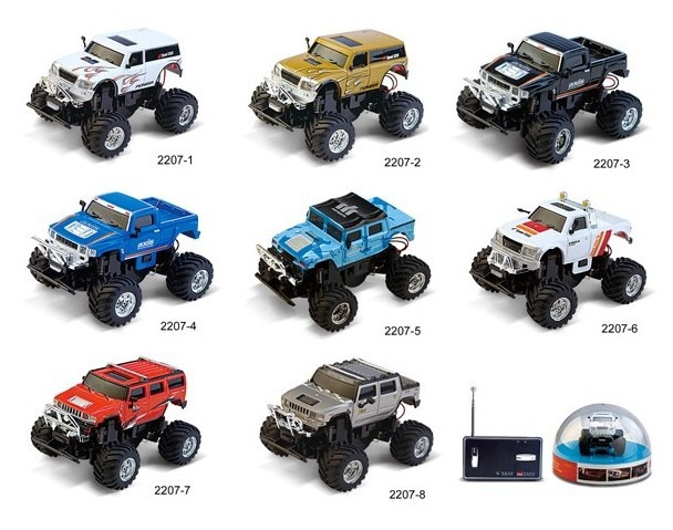 Great wall remote control mini car bigfoot hummer suv remote control car toy car front and rear lamp shock absorption