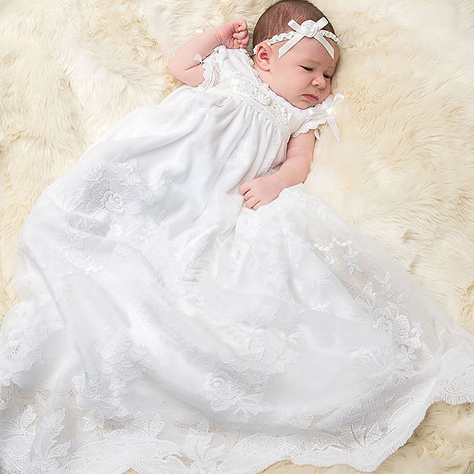 Christening Gowns From Wedding Dresses: Aliexpress.com : Buy With Hat Baby Christening Gown To The