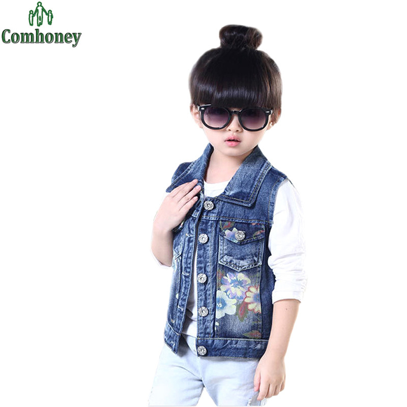 Compra Sin mangas de jean chaquetas para niños online al