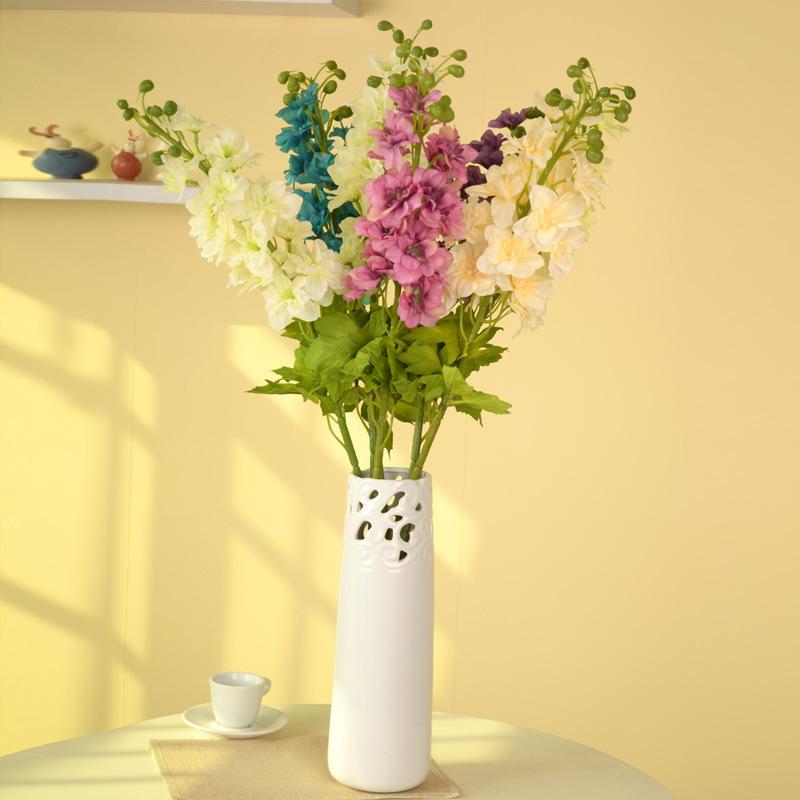 Delphinium Flor Flor Fiori Artificiali Per La Cerimonia Nuziale Decorativa di Simulazione Artificiale di Seta Casa Colorfull Flores Para Artesanato