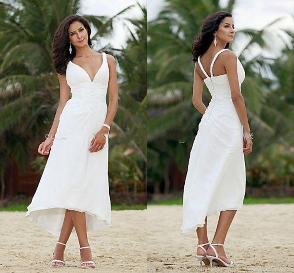 Beach Wedding Dress 2013 Flowing Summer Dresses Greek: 2015 Summer Beach Short Wedding Dresses For Bride A Line
