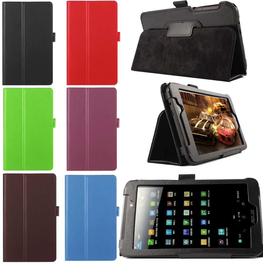 """newest b0bd5 4980b For Asus FonePad 7 FE170 FE170CG 7 inch Multi-color Folio PU Leather Case  Stand Cover 7"""" Tablet with Pen Holder Free shiiping"""