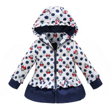 girls winter coat children cute polka dot hooded jacket outerwear kids girl warm clothing baby fashion cartoon  clothes ws049
