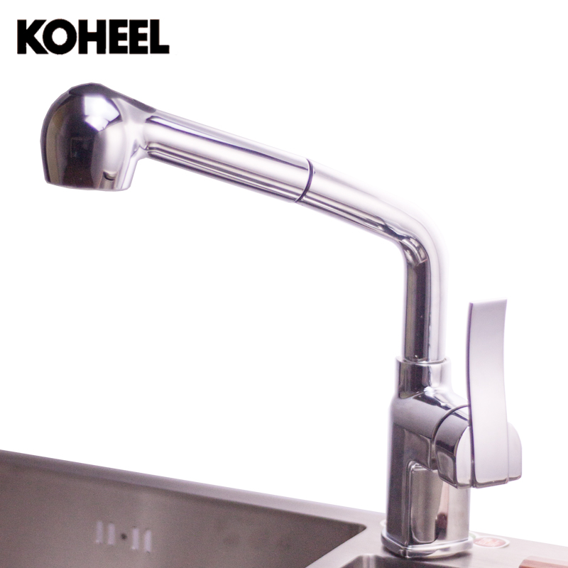 Kitchen Faucets Single Handle Pull Down Spring Spray Kitchen Sink