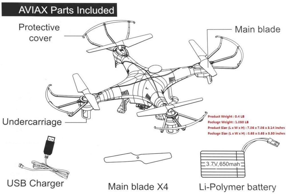 Aviax H2O waterproof Drone Headless Mode 2.4GHz 6Axis Gyro