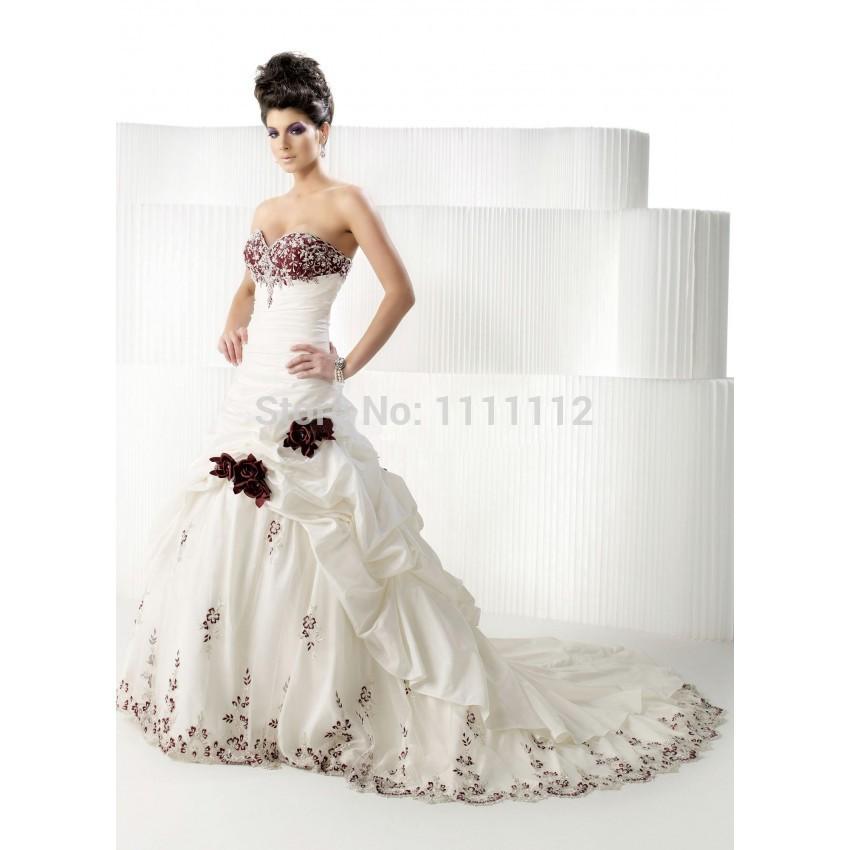 d84f5bc88c Burgundy Wedding Dresses. a line ball gown sweetheart empire burgundy rose  wedding dresses9redblack and white