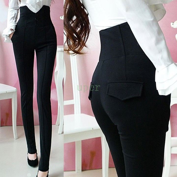 Women High Waist Pants Women Trousers 2015 Long Slim ...