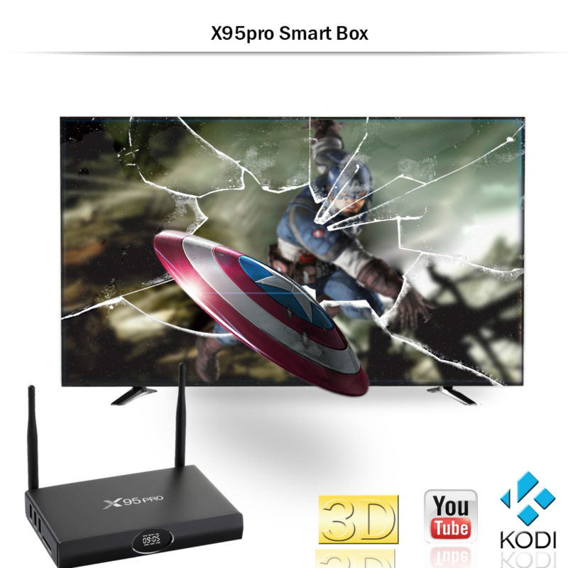 Royal IPTV Amlogic S905X X95 PRO Android 6 0 TV BOX Quad Core 1GB/ 8GB Wifi  HDMI 2 0A Arabic French Italian Europe IPTV TV Box