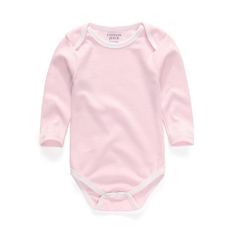 В круг воротник ткань в полоску длинная рукава детские комбинезоны возчиков новорожденных унисекс младенцы одежда одежда для малышей руковички для детей