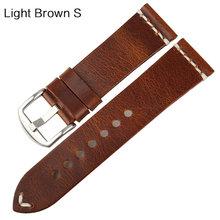 MAIKES новейший дизайн 20 мм 22 мм 24 мм Ретро красное зерно 6 цветов Высококачественная стальная пряжка роскошные кожаные часы ремешок(Китай)