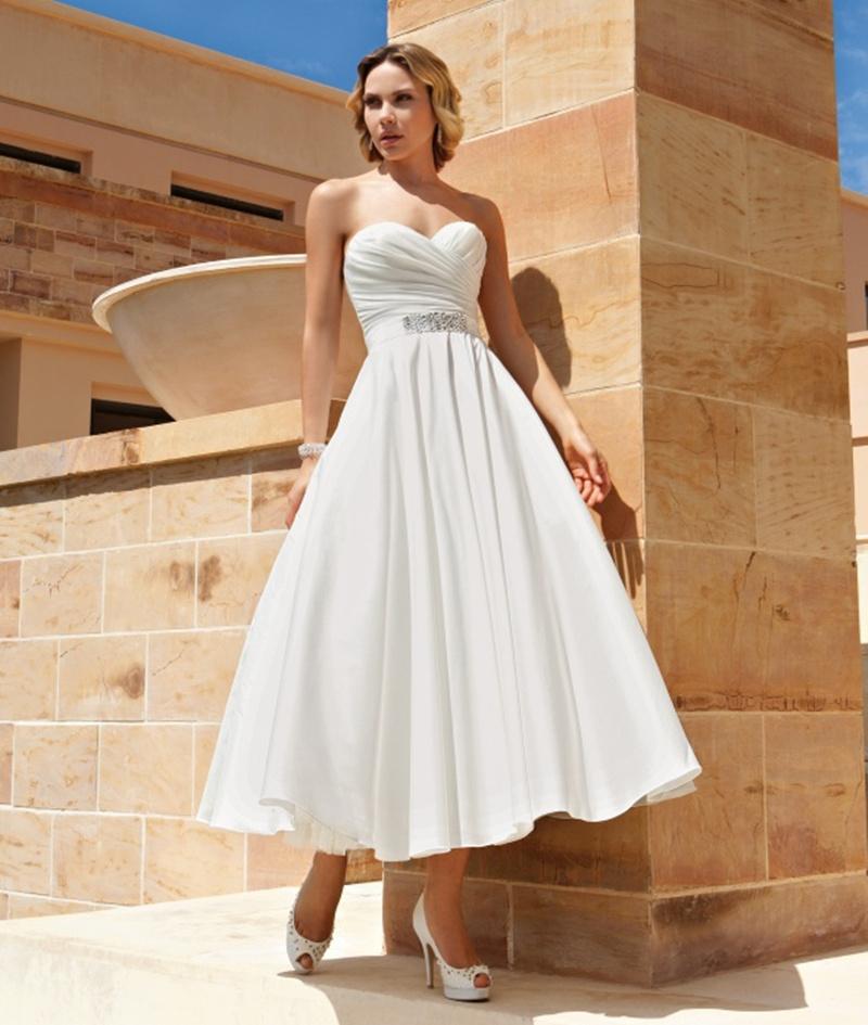 Wedding Gowns Plus Size Cheap: Custom Made Sexy Short Wedding Dress 2016 A Line