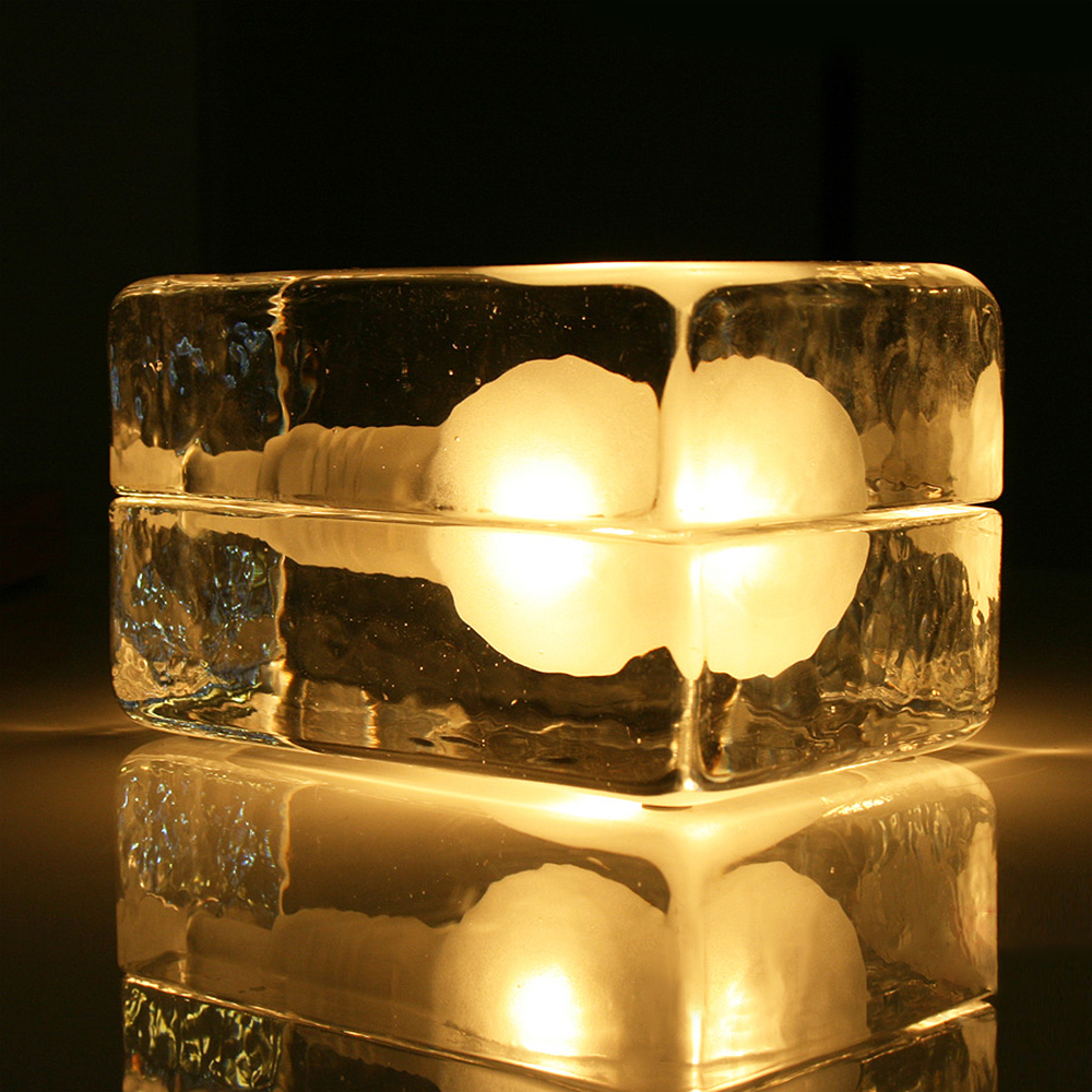 modern ice glass table lamp lamparas de mesa lampe de