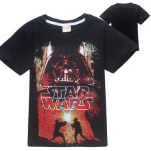 (4-12Y) Boys Clothes 2016 STAR WARS Summer New Cartoon Boys T-shirt O-Neck Short sSleeve Boys Clothes